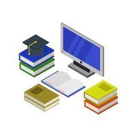 Online-Isometrie auf weißem Hintergrund studieren