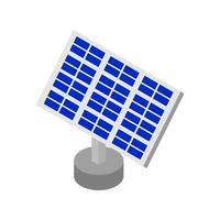 isometrisches Solarpanel auf weißem Hintergrund vektor