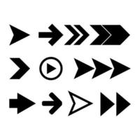 Pfeilsymbolsatz vektor