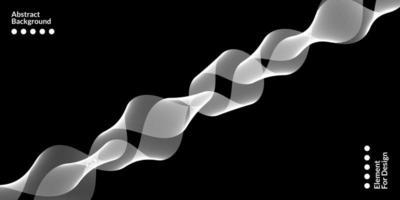 modern abstrakt bakgrund med vita vågiga linjer. vektor