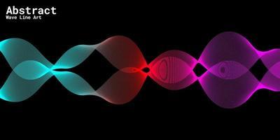 modern abstrakt bakgrund med vågiga linjer i lila, röda och blåa graderingar vektor