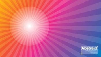 Farbe abstrakter Hintergrund Sonnenaufgang kann in Plakat, Banner, Flyer und Website verwendet werden. vektor