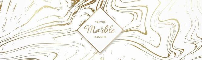 design lång banner med marmor konsistens vektor
