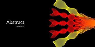 moderner abstrakter Hintergrund mit Wellenlinien in roten und gelben Abstufungen. vektor
