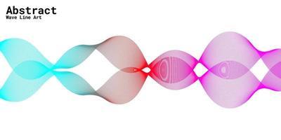 moderner abstrakter Hintergrund mit Wellenlinien in den Abstufungen lila, rot und blau vektor