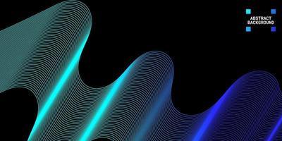 modern abstrakt bakgrund med vågiga linjer i blå graderingar vektor