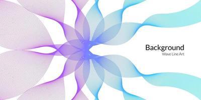 modern abstrakt bakgrund med vågiga linjer i lila och blå graderingar. vektor