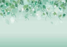 sömlös akvarell ny grön bakgrund med textutrymme, vektorillustration. vektor