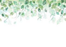 frischer grüner Hintergrund des nahtlosen Aquarells mit Textraum, Vektorillustration. vektor
