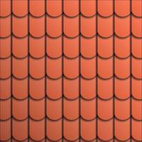 Muster Terrakotta Dachziegel. vektor