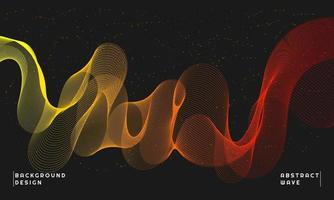 abstrakt vågelement för design vektor