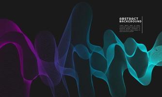 abstraktes Wellenelement für Design. mit lila und hellblauen Abstufungen
