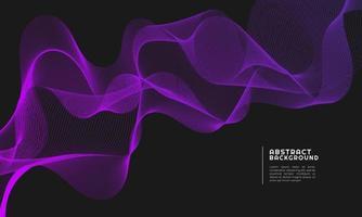 abstrakt bakgrund med mörk lila gradient färg våg linje vektor