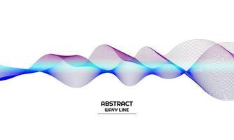 abstrakt bakgrund med lila och blå gradient färg våg linje element vektor