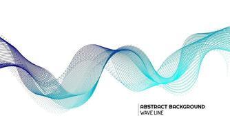 abstraktes Wellenelement für Design