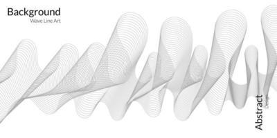 moderner abstrakter Hintergrund mit grauen Wellenlinien vektor
