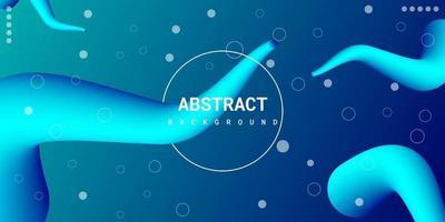 modern abstrakt flytande 3d bakgrund med blå lutning vektor