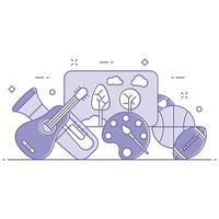 Illustration des Hobbys- und Aktivitätskonzepts vektor