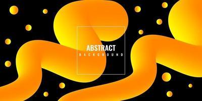 modern abstrakt flytande 3d-bakgrund med gul lutning vektor