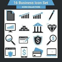 Geschäftssymbolsatz vektor