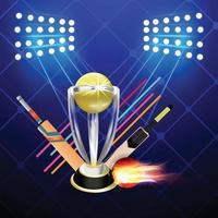 Cricket-Meisterschaft Illustration vektor