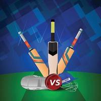 Cricket-Turnier Match Design-Konzept vektor