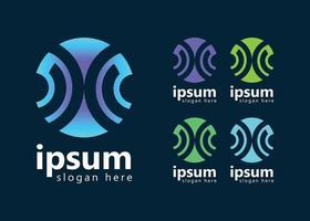 Designvorlage für digitales Logo mit Fingerabdruck vektor