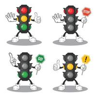 trafikljus maskot samling