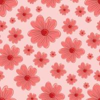 sömlös blommönster