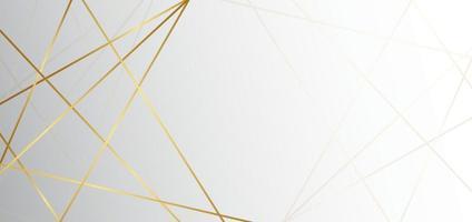 abstrakter weißer und grauer Dreieckshintergrund mit Luxus der goldenen Linie. Sie können für Anzeige, Poster, Vorlage, Geschäftspräsentation verwenden. vektor
