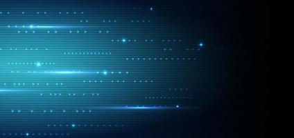 digitale Linien der abstrakten futuristischen Technologie im dunkelblauen Farbhintergrund. vektor
