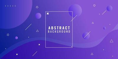 modern abstrakt lila gradient geometrisk vektor