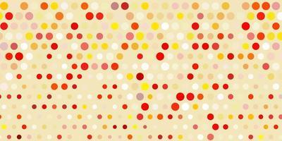 hellrosa, gelbes Vektorlayout mit Kreisformen. vektor
