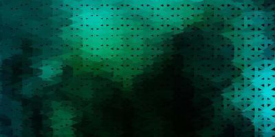 geometrisches polygonales Design des dunkelblauen, grünen Vektors. vektor
