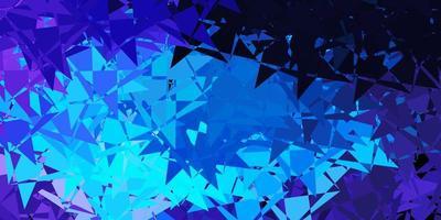 hellrosa, blaue Vektorschablone mit Dreiecksformen. vektor