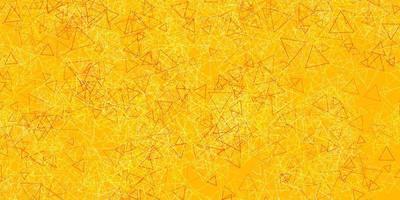 hellrosa, gelbe Vektorschablone mit Dreiecksformen. vektor