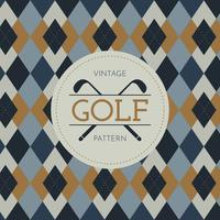 Weinlese-Golf-Muster vektor
