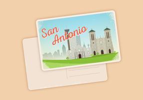 San Antonio Postkarte Ilustration