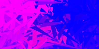 ljuslila, rosa vektorbakgrund med månghörniga former. vektor