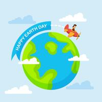 Happy Earth Day Hintergrund vektor