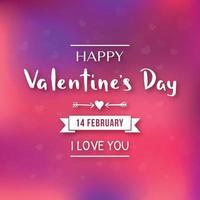 fröhlichen Valentinstag. 14. Februar Banner vektor