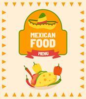 Mexikanische Essen Menü Vektoren