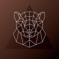 abstrakter polygonaler Kopf eines Braunbären. Vektorillustration. vektor