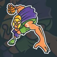 Basketmaskot vektor