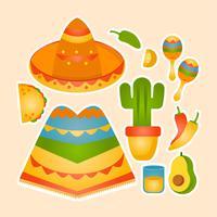 Vector mexicanska objekt