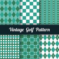 Golf-Muster-Sammlung vektor