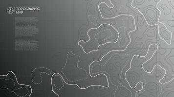 topografische Linienkarte. abstraktes topografisches Kartenbanner mit Kopierraum. vektor