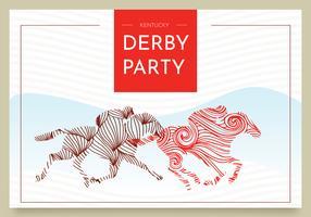 Kentucky Derby Postkarte Vektor Design