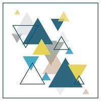 abstrakter skandinavischer Hintergrund bestehend aus mehrfarbigen Dreiecken.