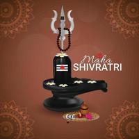 glad maha shivratri av indisk festival vektor